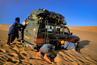 Stuck in the Sahara desert