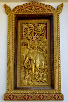 Carved gilded window