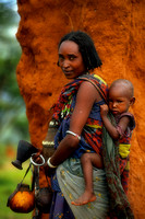Borano Lady and child