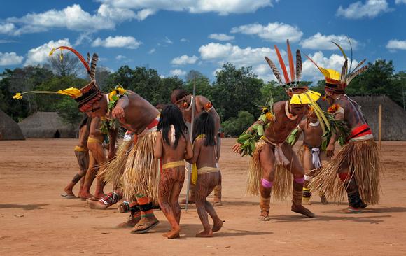 BRAZIL Mato Grosso Indigenous Park of the Xingu Stock